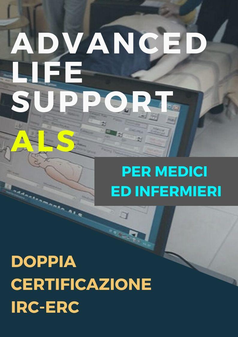 Corso ALS (ADVANCED LIFE SUPPORT) doppia attestazione IRC/ERC