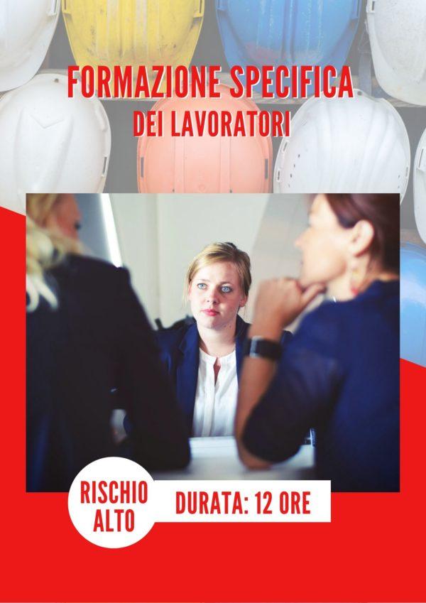 corso Sicurezza sul lavoro – Formazione specifica dei lavoratori - Rischio alto-sicilia-enna-piazza-armerina