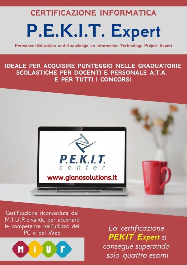 Certificazione informatica PEKIT Expert riconosciuta miur-a piazza-armerina-gianosrl-cbformazione