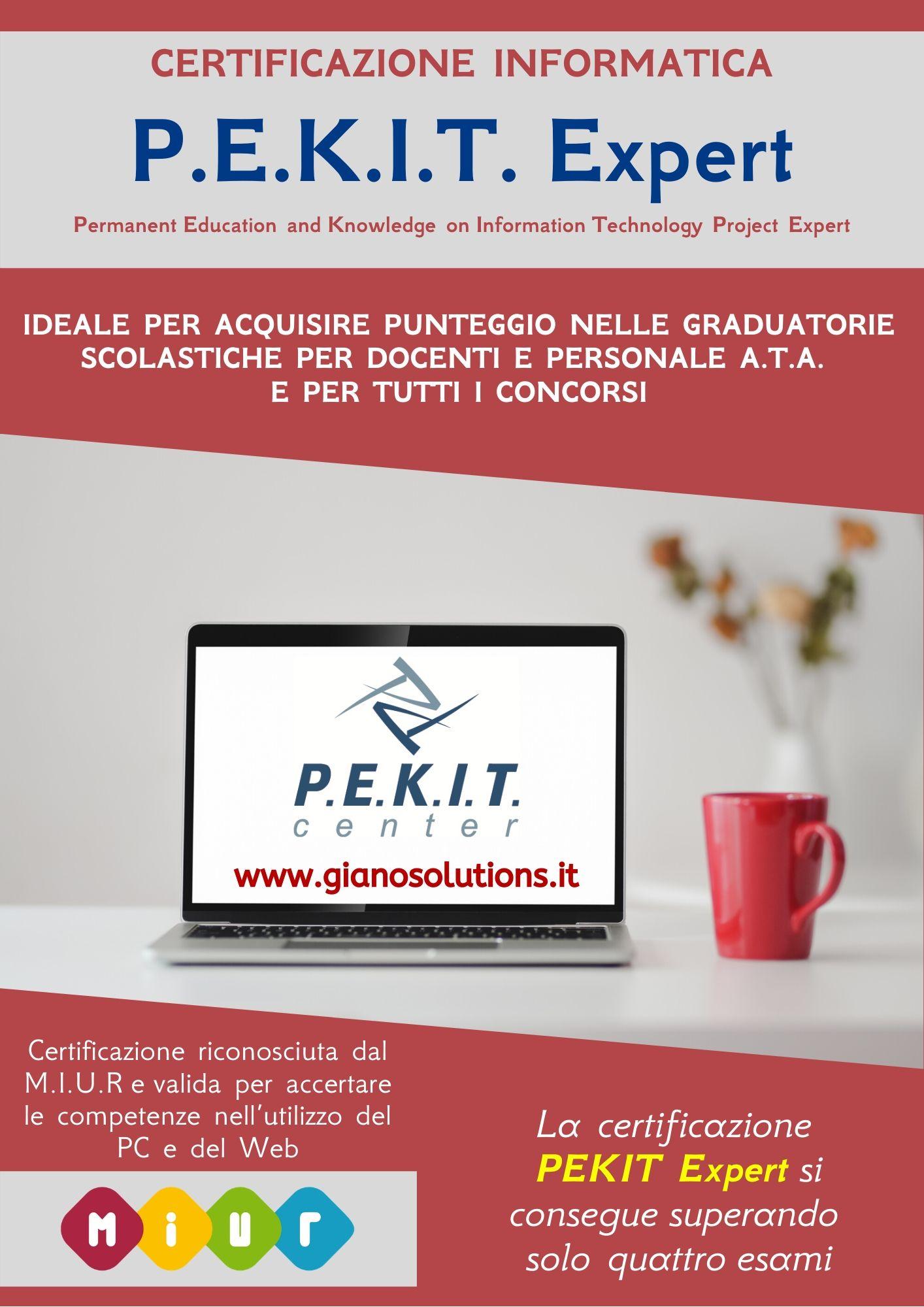 Certificazione informatica P.E.K.I.T. Expert