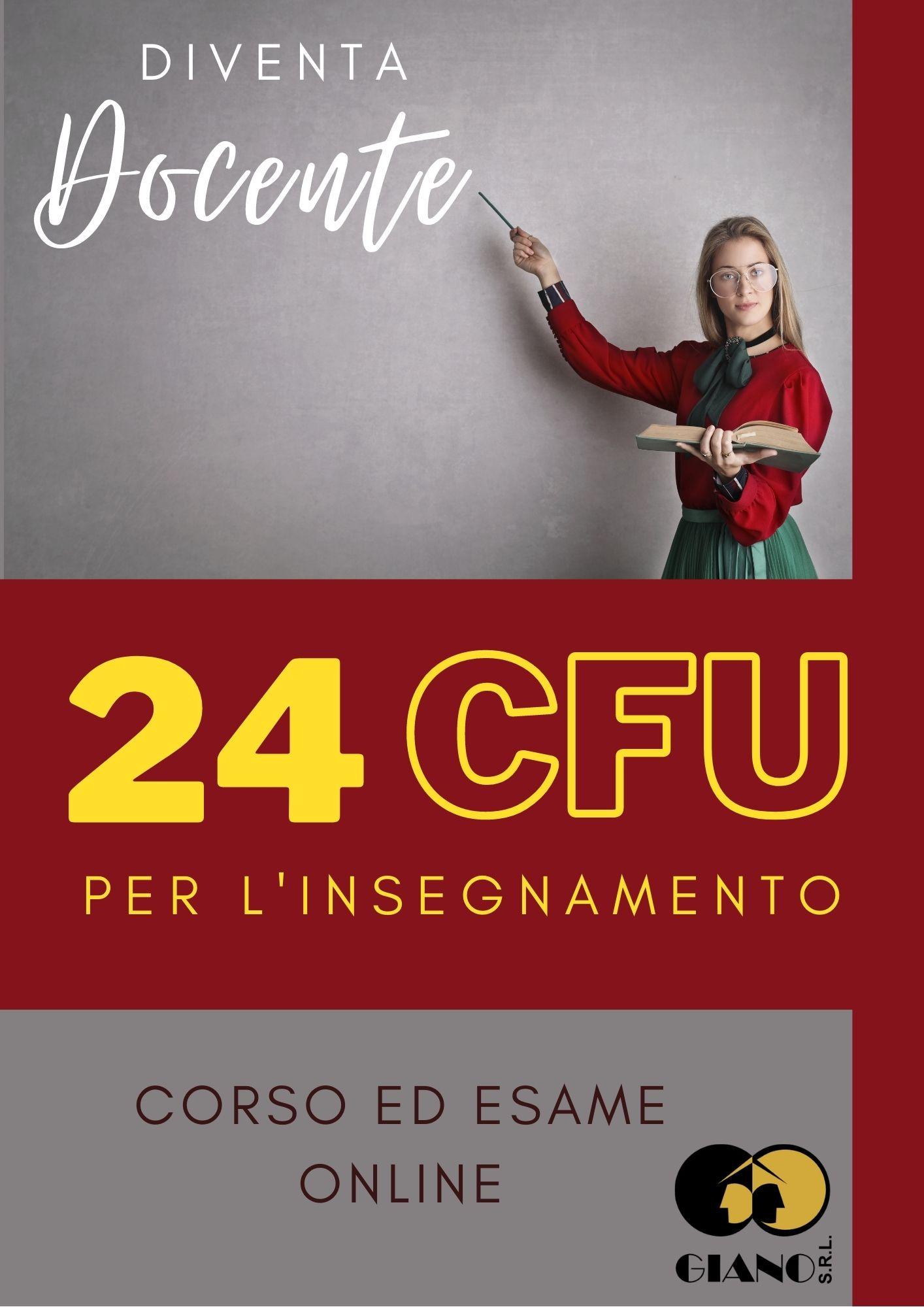 Corso 24 CFU per l'insegnamento