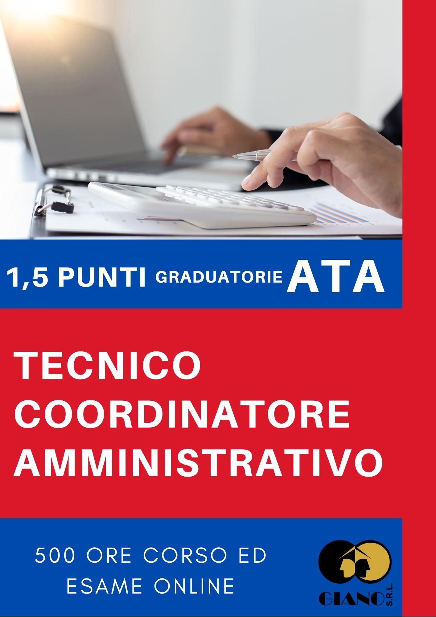 Corso di Tecnico Coordinatore Amministrativo online